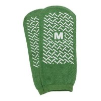 Slipper Socks; Med Green Pair Men's 56 wms 67 Child 711 - 1 ea