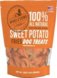 Petstages wholesome pride sweet potato fries - 8oz, 24 ea