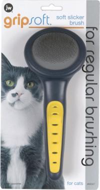 Jw - Dog/Cat gripsoft cat slicker brush - 12 ea