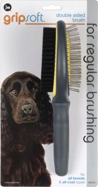 Jw - Dog/Cat jw gripsoft double sided brush - 48 ea