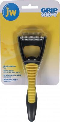 Jw - Dog/Cat gripsoft cat deshedding tool - 24 ea