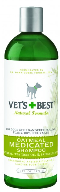 Bramton Company vet's+best oatmeal medicated shampoo for dogs - 16 oz, 12 ea