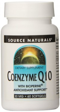 Source naturals coenzyme Q10 softgels with bioperine, 30 mg  - 60 ea