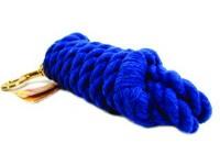 Hamilton Halter Company cotton rope lead with brass bolt snap - 10 foot, 6 ea