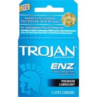 Trojan enz lubricated latex condoms - 4 ct