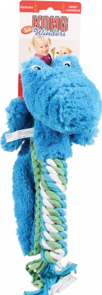 Kong Company winders tails alligator dog toy - large, 24 ea