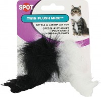 Ethical Cat twin plush mice - 2 pack, 90 ea