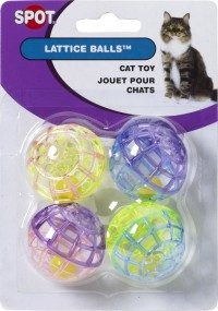 Ethical Cat lattice balls with bells - 4 pack, 288 ea