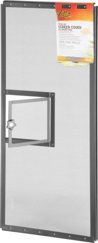 Zilla fresh air screen cover with hinged door - 30x12 inch, 24 ea