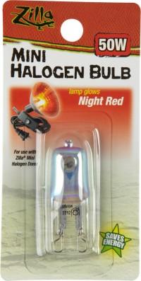 Zilla mini halogen bulb - 50 watt, 48 ea