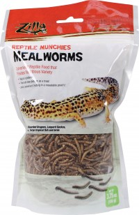 Zilla reptile munchies mealworms - 3.75 ounce, 24 ea