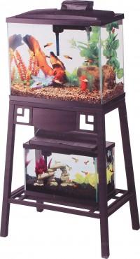 Aqueon Products - Glass forge metal aquarium stand - 20 x 10 inch, 1 ea