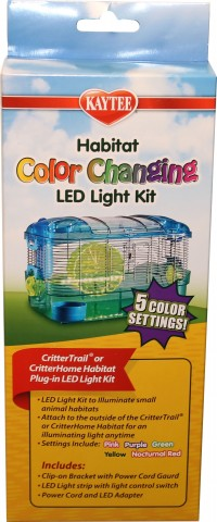Super Pet- Container kaytee crittertrail led color add-on light kit - 36 ea