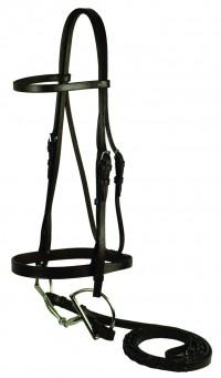 Gatsby Leather Company flat snaffle bridle - horse, 10 ea