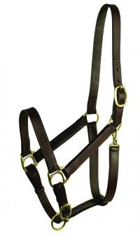 Gatsby Leather Company leather halter - cobb, 1 ea