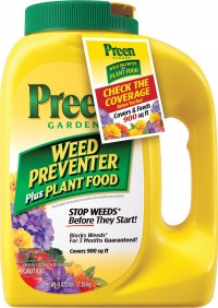 Greenview preen weed preventer & plant food fertilizer - 900 sq ft, 4 ea