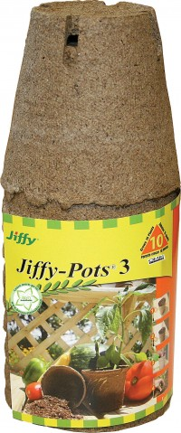 Jiffy/Ferry Morse Seed Co jiffy-pots round seed starters - 3 inch/10 pack, 37 ea