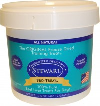 Stewarts Treats freeze dried beef liver treats - 21 oz, 6 ea