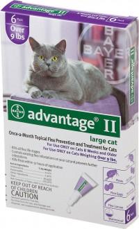 F.C.E. Inc D advantage ii for cats - over 9lb/4pack, 12 ea