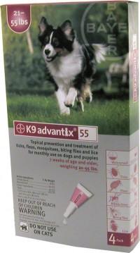 F.C.E. Inc D advantix ii dog red - 21-55 lb/4 pk, 12 ea