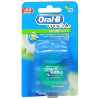 Oral-B satinfloss dental floss, mint - 55 yards