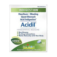 Boiron acidil homeopathic medicine for indigestion, heartburn and sour stomach, 60 tablets