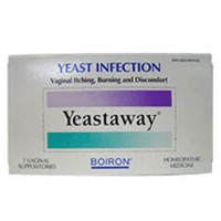 Boiron Yeastaway, yeast infection vaginal suppositories - 7 ea