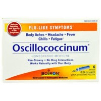 Boiron Homeopathic Medicine Oscillococcinum for Flu, 6 dose - 0.04 OZ