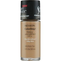Revlon Colorstay Makeup With SoftFlex For Combination / Oily Skin, Rich Tan #330, 1 oz - 2 ea