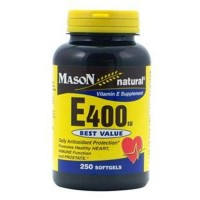 Mason Natural Vitamin E 400Iu Dl Alpha Softgels - 250 Ea