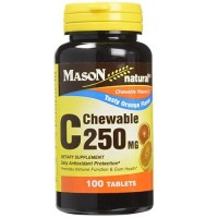 Mason Natural Vitamin C 250 Mg Chewable Tablets, Orange And Vanilla - 100 Ea