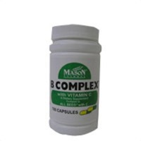 B Complex With Vitamin C Capsules, By Mason - 100 Ea