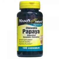 Mason Natural Papaya Digestive Enzymes Complex - 100 Chewable Tablets