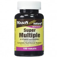 Mason Natural Super Multiple 34 Vitamins And Minerals - 100 Tablets