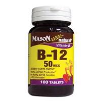 Mason Naturals Vitamin B-12 50 Mcg Tablets - 100 Ea