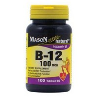 Mason naturals vitamin B-12 100 mcg tablets - 100 ea