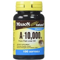 Mason natural vitamin A-10,000 from fish liver oil - 100 Ea