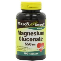Mason Natural Magnesium Gluconate 550Mg Tablets - 100 Ea