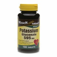 Mason Natural Potassium Gluconate 595 Mg Tablets - 100 Ea