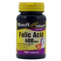 Mason natural folic acid 400 mcg tablets - 100 ea