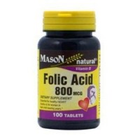 Mason natural folic acid 800 mcg tablets - 100 ea