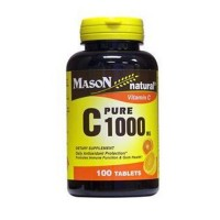 Mason natural vitamin C 1000 mg pure ascorbic acid tablets - 100 ea