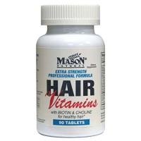Mason Natural Extra Strength Hair Vitamin Tablets, Professional Formula - 90 Ea