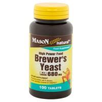 Mason natural brewers yeast 680 Mg tablets High power food - 100 Ea
