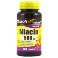 Mason Natural Niacin 500Mg Dietary Supplement Tablets - 100 Ea
