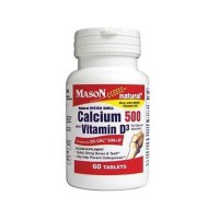 Mason Natural Calcium 500 with Vitamin D3 Tablets - 60 Ea