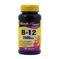 Mason Naturals Vitamin B-12 2000 Mcg Tablets - 60 Ea