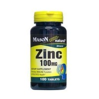 Mason Natural Zinc 100 mg Mineral Tablets - 100 Ea