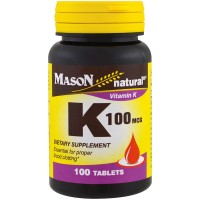 Mason Natural Vitamin K 100 Mcg Dietary Supplement Tablets - 100 Ea