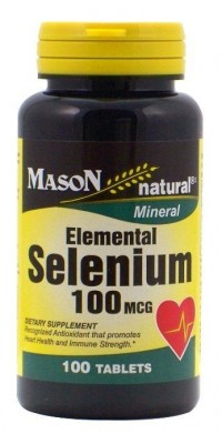 Mason Natural Elemental Selenium 100 Mcg Tablets - 100 Ea